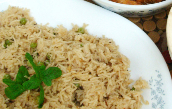 Arroz integral com tempero sem sal