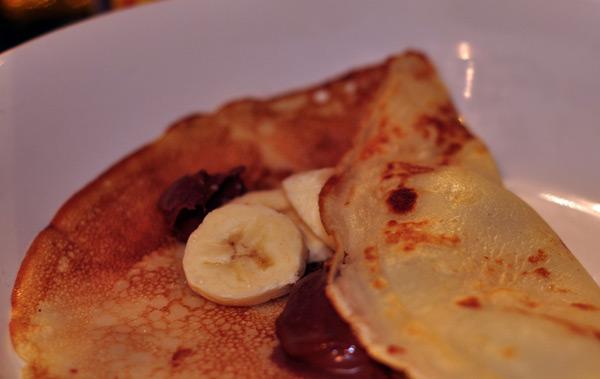 Crepe de creme de avelã diet (tipo Nutella) com frutas