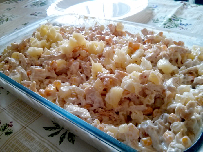 Receita de salada californiana light