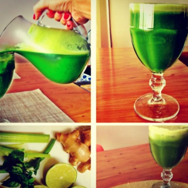 Suco verde detox da Luana - nutricionista