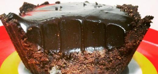eceita de tortinha de chocolate fit - sem lactose e glúten