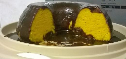 Receita de bolo de cenoura com chocolate sem lactose sem soja e ovo