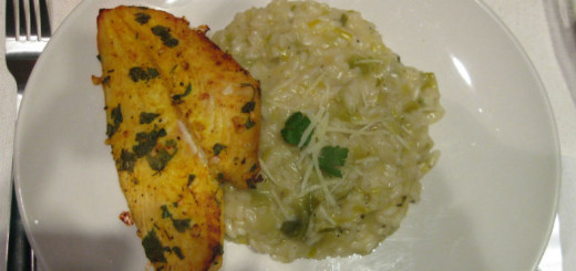 Receita light de risoto de arroz integral com alho poró